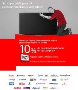 El Buen Fin 2018 Santander: 10% de bonificación adicional en tu compras