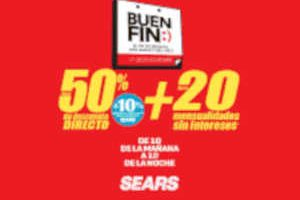 El Buen Fin 2018 Sears: hasta 50% de descuento + 20 msi
