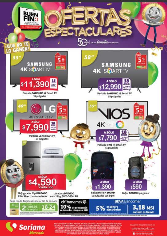 0e49dcb1ab El Buen Fin 2018 Soriana Mercado  Folleto de ofertas y promociones