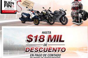 El Buen Fin 2018 Yamaha Motor: Hasta 18 mil de descuento o 25 MSI