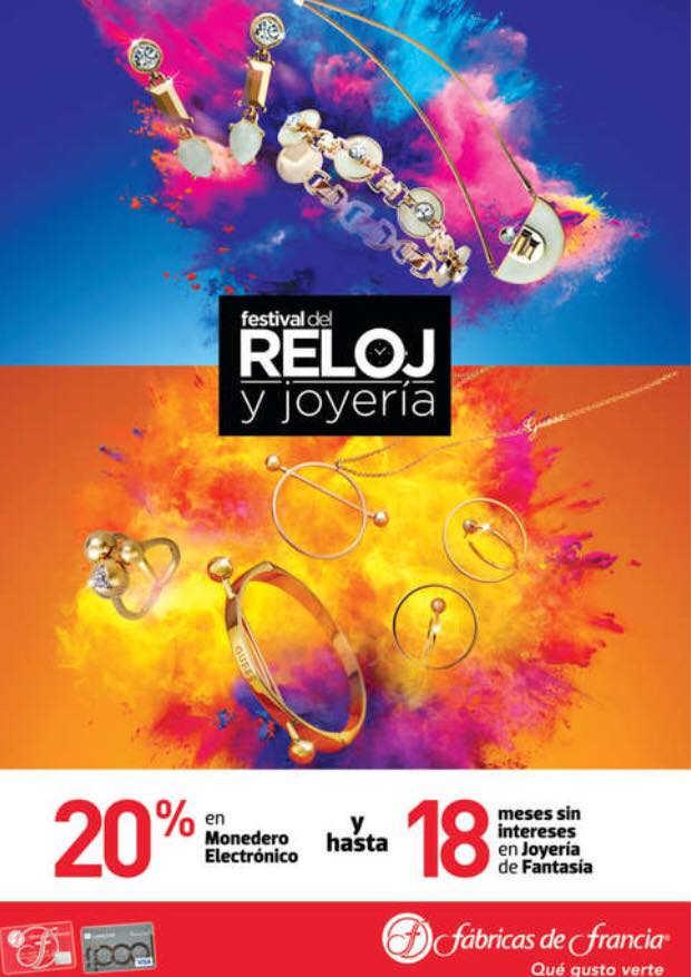 Fábricas de Francia Festival del Reloj y Joyería del 3 al 16 de Noviembre 2018