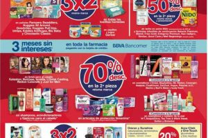 Folleto de ofertas del Buen Fin 2018 en Farmacias Benavides