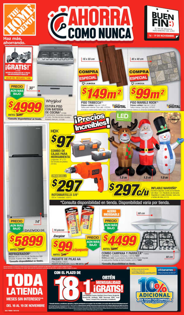 d4bbc6f45595e Folleto de ofertas del Buen Fin 2018 en The Home Depot