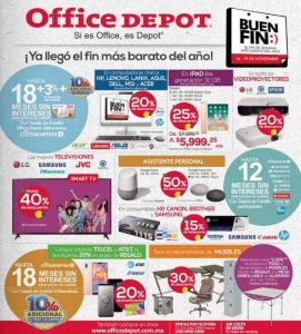 Folleto de ofertas del Buen Fin 2018 en Office Depot