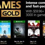 Games With Gold Diciembre 2018: Juegos Gratis para Xbox One y 360