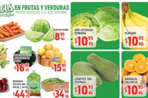 Frutas y Verduras HEB del 13 al 19 de Noviembre 2018