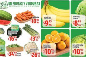 Frutas y Verduras HEB del 20 al 26 de noviembre 2018