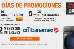 Home Depot Cyber Days 2018 / 10% de bonificacion con Citibanamex