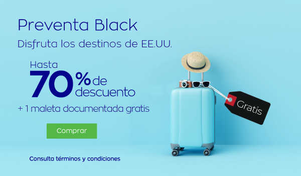 Interjet – Black Friday 2018 / hasta 70% de descuento + maleta gratis