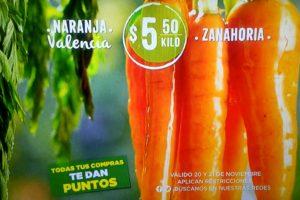 Mega Soriana: Frutas y Verduras 20 y 21 de noviembre 2018