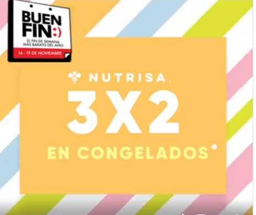 Ofertas El Buen Fin 2018 en Nutrisa: 3×2 en helados y congelados