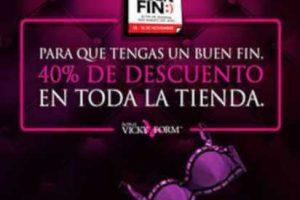 Vicky Form El Buen Fin 2018: 40% de descuento en toda la tienda