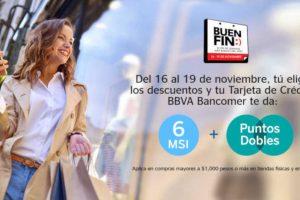 El Buen Fin 2018 BBVA Bancomer: Puntos Dobles + 6 Meses sin intereses