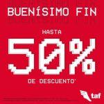 Promociones TAF El Buen Fin 2018: Hasta 50% de descuento