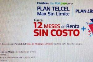 Promociones Telcel Buen Fin 2018: Triple de megas en plan desde $199