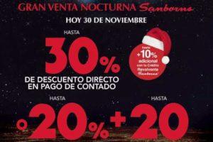 Venta Nocturna Sanborns 30 de Noviembre 2018