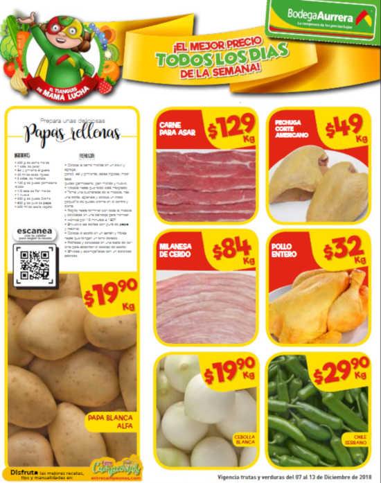 Bodega Aurrerá: frutas y verduras del 7 al 13 de diciembre 2018