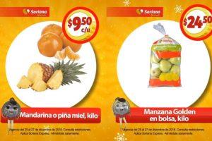 Frutas y Verduras Soriana Mercado y Express 25 al 27 de diciembre 2018