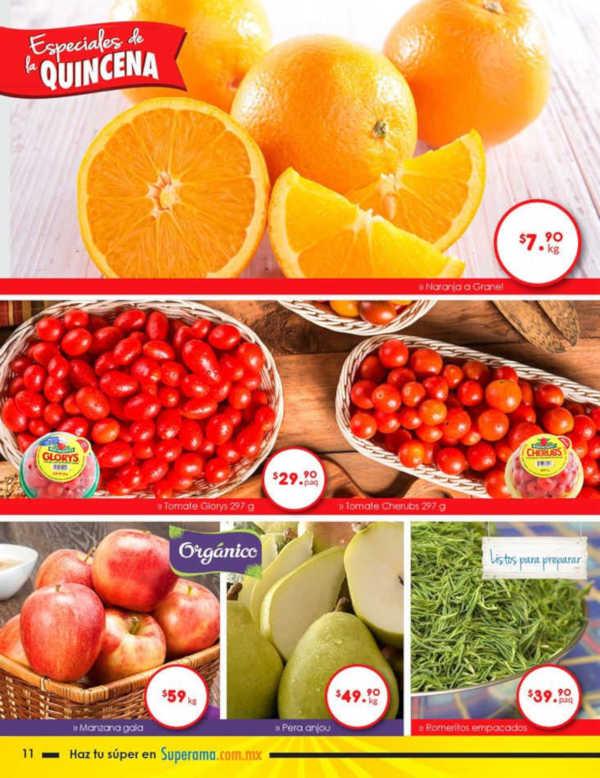Frutas y Verduras Superama del 1 al 31 de diciembre 2018