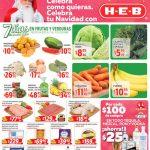 Frutas y Verduras HEB del 11 al 17 de diciembre 2018