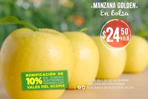 Mega Soriana: Frutas y Verduras 25 y 26 de diciembre 2018