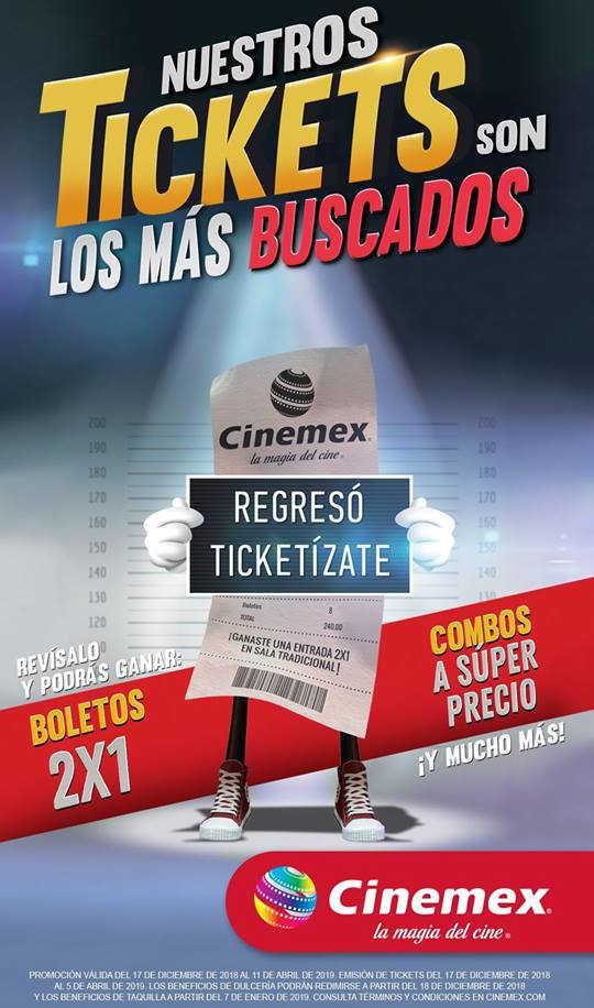 Promociones Cinemex Ticketízate 2019: Boletos al 2×1, combos y más