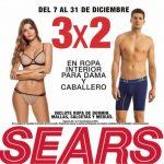 Sears: 3x2 en ropa interior dama y caballero del 7 al 31 de Diciembre 2018