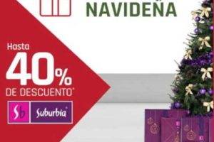 Venta Nocturna Navideña Suburbia del 14 al 17 de diciembre 2018