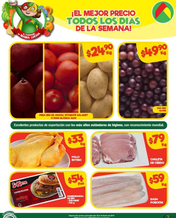 Bodega Aurrerá: Frutas y Verduras del 18 al 24 de enero de 2019