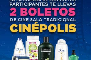 Chedraui: 2 boletos de Cinépolis GRATIS comprando productos Unilever
