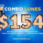 Cinépolis: Combo Lunes 2 entradas + palomitas grandes + 2 refrescos jumbo por $15