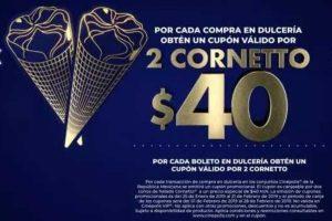 Cinepolis cupón de descuento 2 Cornetto a $40