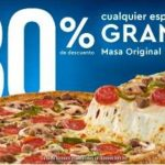 Dominos Pizza 30% de descuento en pizzas grandes de 2 a 4 ingredientes