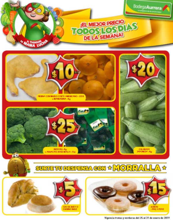 Frutas y Verduras Bodega Aurrerá del 25 al 31 de enero de 2019