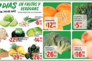Frutas y Verduras HEB del 22 al 28 de enero de 2019