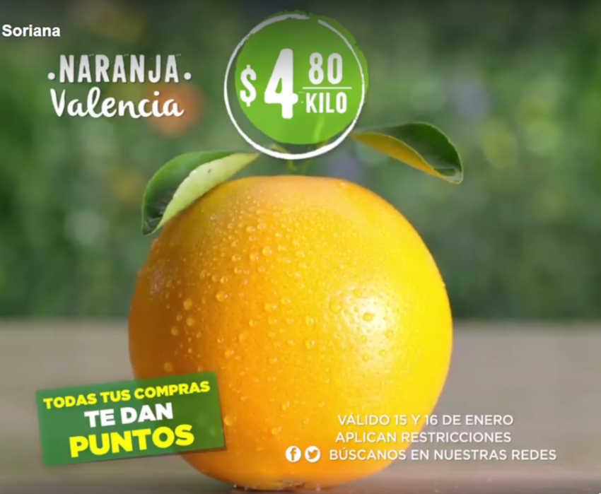Frutas y Verduras Soriana 15 y 16 de enero de 2019