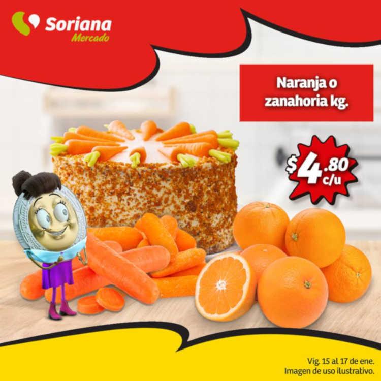 Frutas y Verduras Soriana Mercado del 15 al 17 de enero de 2019
