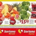 Frutas y Verduras Soriana Mercado del 8 al 10 de enero 2019