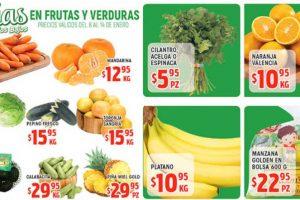 Frutas y Verduras HEB del 8 al 14 de enero 2019