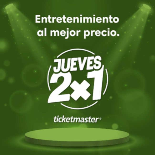 Jueves 2×1 en Ticketmaster 31 de Enero de 2019