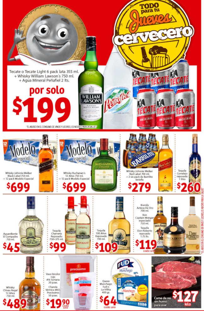 Ofertas Soriana Mercado Jueves Cervecero 24 de enero de 2019
