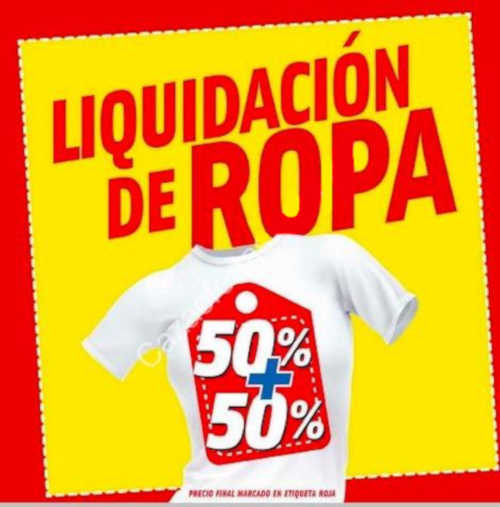 Mega Soriana: Liquidación de ropa 50% de descuento + 50% adicional