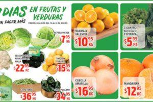 Ofertas de Frutas y Verduras HEB del 15 al 21 de enero de 2019