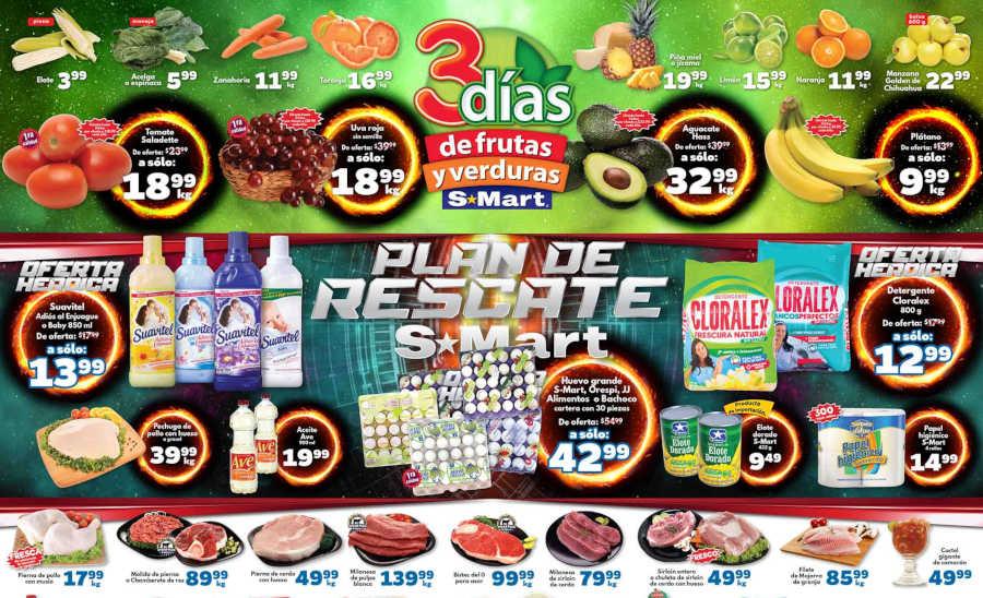 Frutas y Verduras S-Mart del 15 al 17 de enero de 2019