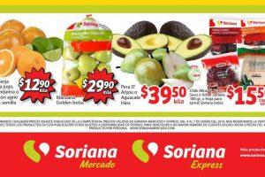 Ofertas Soriana Mercado Frutas y Verduras del 4 al 7 de enero 2019