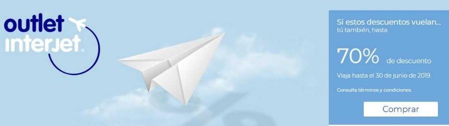 Interjet: Ofertas Outlet 70% de descuento en vuelos nacionales e internacionales