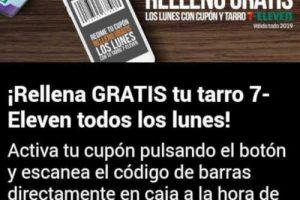 Promoción 7-Eleven Rellena GRATIS tu tarro de café todos los lunes