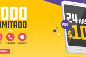 Promoción Unefon Ilimitado desde 10 pesos por 24 horas