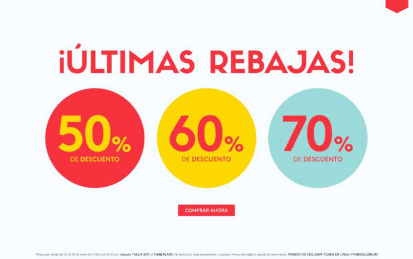 Promoda Outlet: Rebajas de hasta 70% de descuento en tienda online