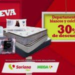 Rebajas Soriana y Mega Soriana 30% de descuento en colchones y blancos